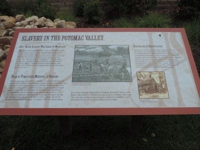 Slavery in the Potomac Valley Marker image. Click for full size.