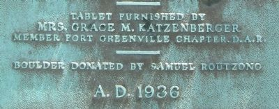donors name at Camp Maple Swamp marker image. Click for full size.