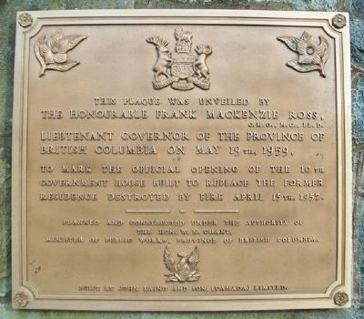 Government House Marker image. Click for full size.