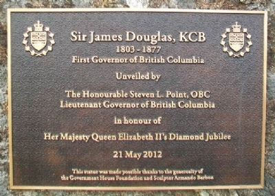 Sir James Douglas, KCB Marker image. Click for full size.