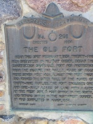 The Old Fort Marker image. Click for full size.