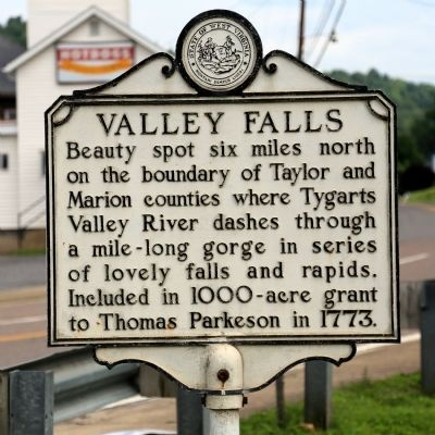 Valley Falls Marker image. Click for full size.
