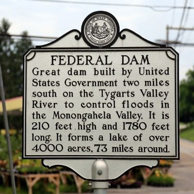Federal Dam Marker image. Click for full size.