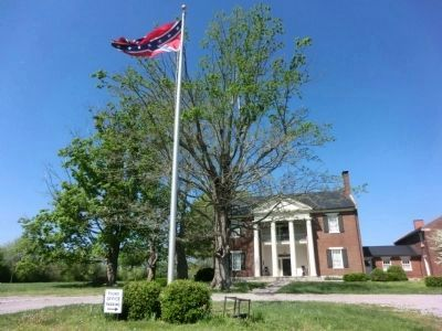 Historic Elm Springs-Confederate Flag flying image. Click for full size.