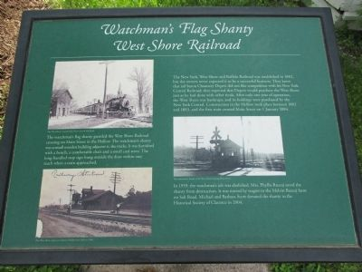 Watchman's Flag Shanty, West Shore Railroad Marker image. Click for full size.