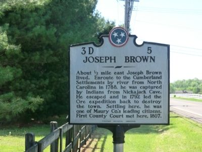 Joseph Brown Marker image. Click for full size.