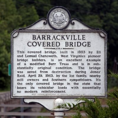 Barrackville Covered Bridge Marker image. Click for full size.