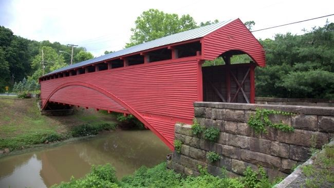 Barrackville Covered Bridge, View of Side Facing West image. Click for full size.