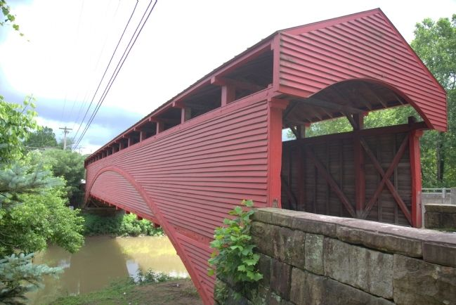 Barrackville Covered Bridge, View of Side Facing East image. Click for full size.