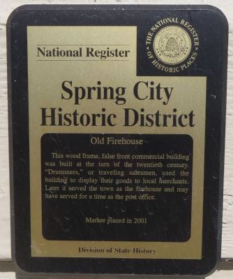 Old Firehouse Marker image. Click for full size.