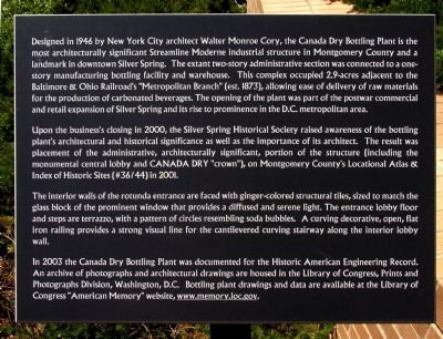 Canada Dry Building Marker image. Click for full size.