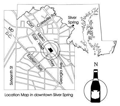 Location Map in downtown Silver Spring image. Click for full size.