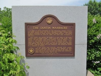 The Dustin Massacre Marker image. Click for full size.