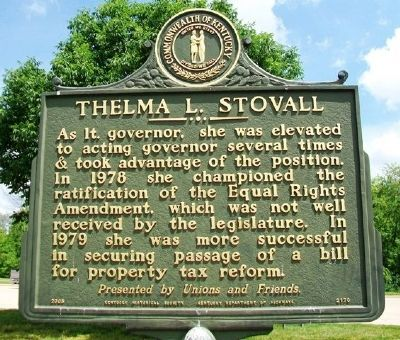 Thelma L. Stovall Marker (Side B) image. Click for full size.