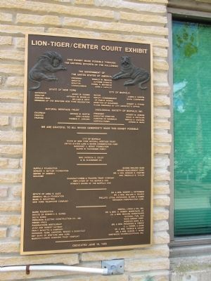 Buffalo Zoo Lion/Tiger Plaque image. Click for full size.