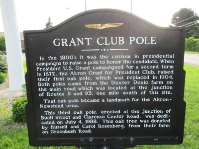 Grant Club Pole Marker image. Click for full size.