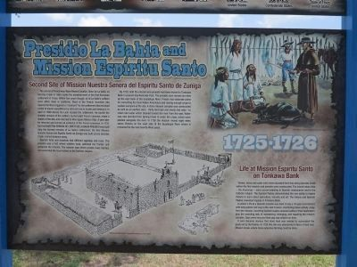 Presidio La Bahia and Mission Espiritu Santo image. Click for full size.