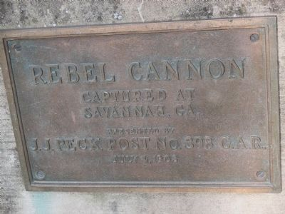 Rebel Cannon Plaque image. Click for full size.