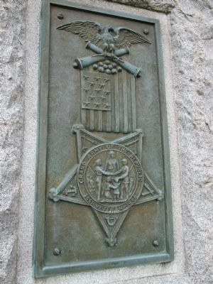 G.A.R. Plaque on West Side of Memorial image. Click for full size.