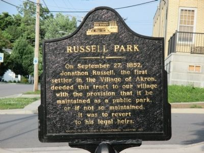 Russell Park Marker image. Click for full size.