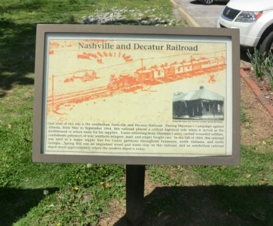 Nashvill and Decatur Railroad Marker image. Click for full size.
