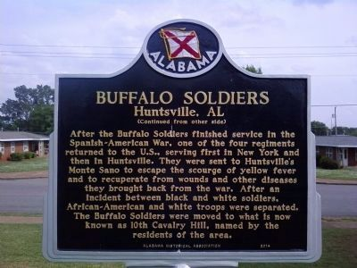 Buffalo Soldiers Marker image, Touch for more information