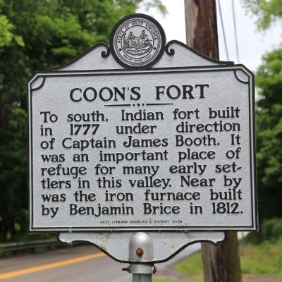 Coon's Fort Marker image. Click for full size.