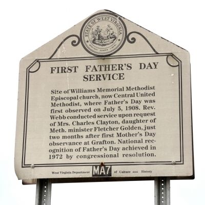 First Father's Day Service Marker image. Click for full size.