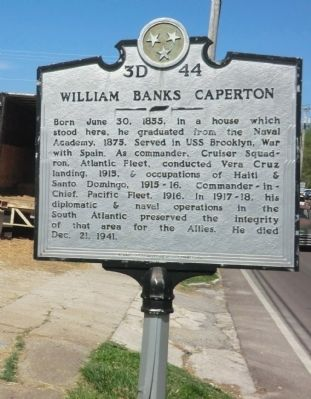 William Banks Caperton Marker image. Click for full size.