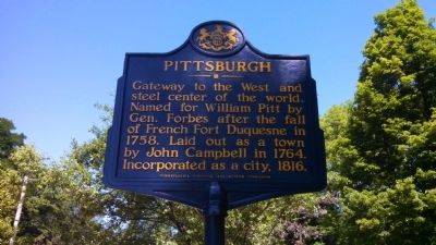 Pittsburgh Marker image. Click for full size.