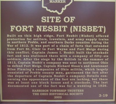 Fort Nesbit replacement Marker also missing image. Click for full size.