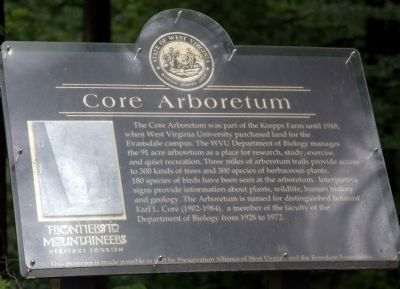 Core Arboretum Marker image. Click for full size.