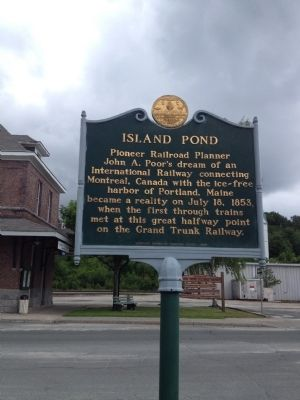 Island Pond Marker image. Click for full size.