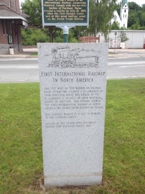 First International Railway in North America Marker image. Click for full size.