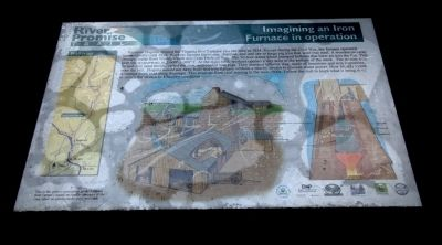 Imagining an Iron Furnace in Operation Marker image. Click for full size.