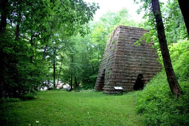 Virginia Iron Furnace and Marker image. Click for full size.