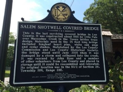 Salem Shotwell Covered Bridge Marker image. Click for full size.