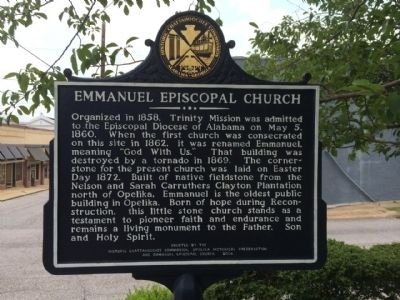 Emmanuel Episcopal Church Marker image. Click for full size.