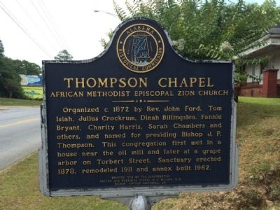 Thompson Chapel A.M.E. Church Marker image. Click for full size.
