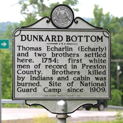Dunkard Bottom Marker image. Click for full size.