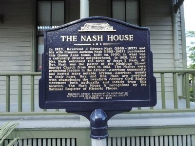 The Nash House Marker image. Click for full size.