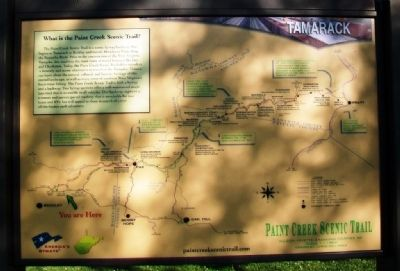 Paint Creek Scenic Trail Marker image. Click for full size.