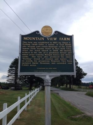 Mountain View Farm Marker image. Click for full size.