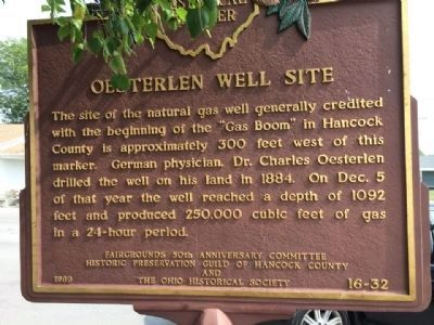 Oesterlen Well Site Marker image. Click for full size.