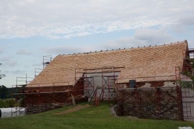 Trostle barn West side with new 1863 style roof. image. Click for full size.