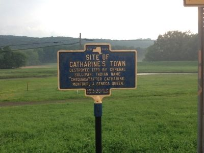 Site of Catharine's Town Marker image. Click for full size.