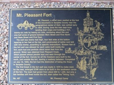 Mt. Pleasant Fort Marker image. Click for full size.