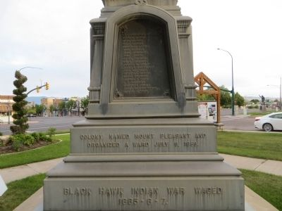 Pioneer Monument Marker <i>Back Plinth:</i> image. Click for full size.