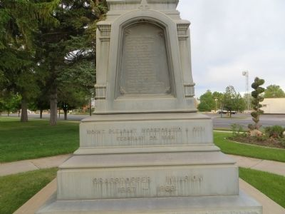 Pioneer Monument Marker <i> Left Plinth:</i> image. Click for full size.