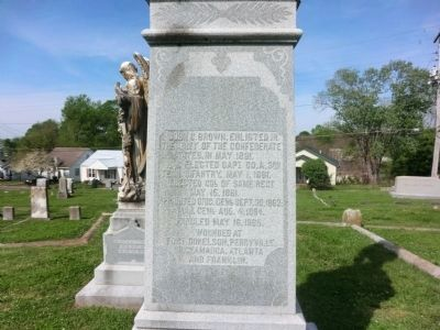 General John Calvin Brown-Close up of the side of the monument image. Click for full size.